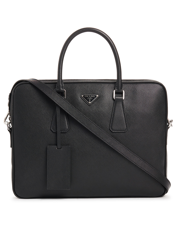 38f8a3b9942ace PRADA Saffiano Leather Briefcase Men's Black ...