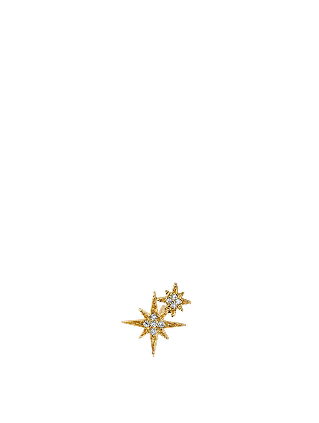 SYDNEY EVAN 14K White Gold Double Starburst Stud Earring Women's Gold