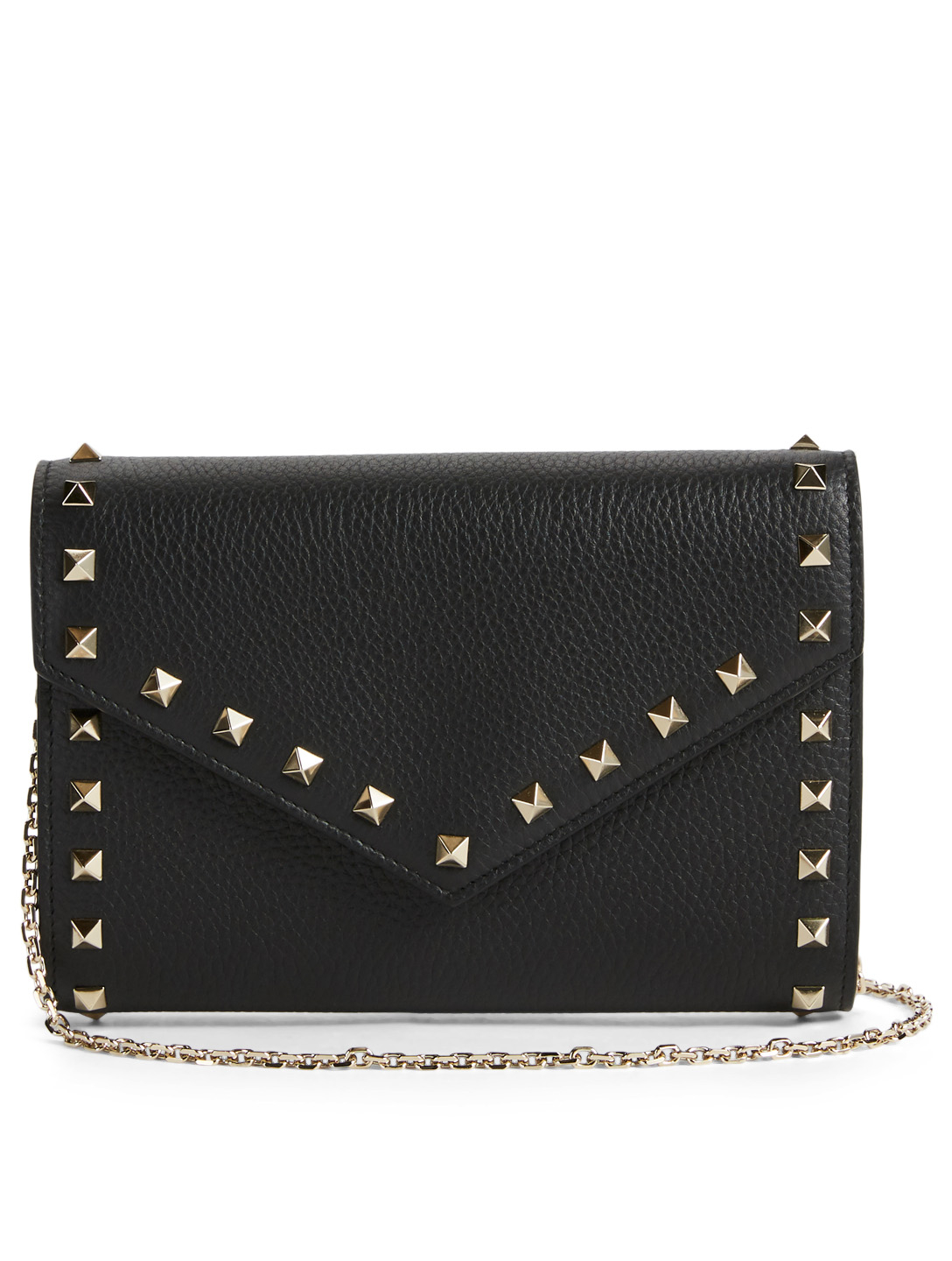 bf03ed7b8c VALENTINO Rockstud Leather Wallet Chain Bag | Holt Renfrew