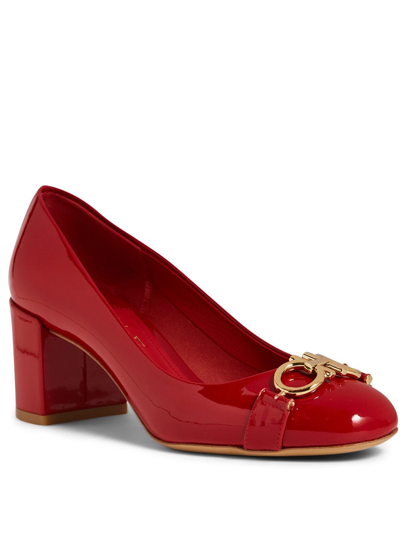 b2b37b676 ... SALVATORE FERRAGAMO Garda Patent Leather Pumps Women's ...