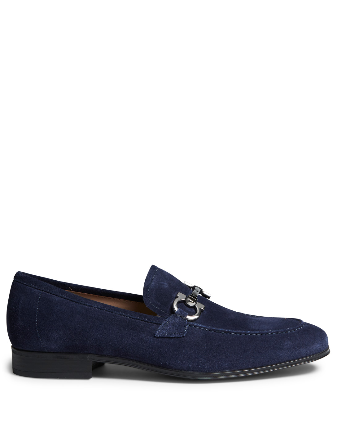 SALVATORE FERRAGAMO Flori 2 Gancio Suede Loafers Men's Blue