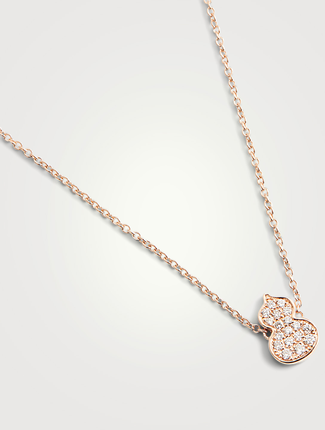 QEELIN Petite Wulu 18K Rose Gold Necklace With Diamonds Women's Metallic