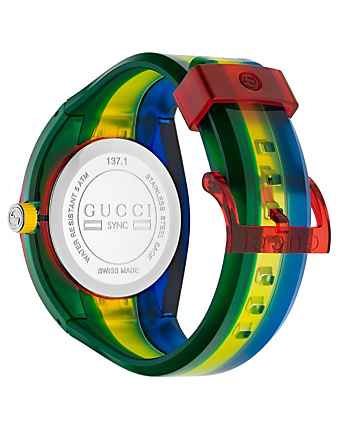 GUCCI Sync Rubber Strap Watch Women's Multi
