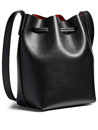 MANSUR GAVRIEL Extra Mini Saffiano Leather Bucket Bag Womens Black