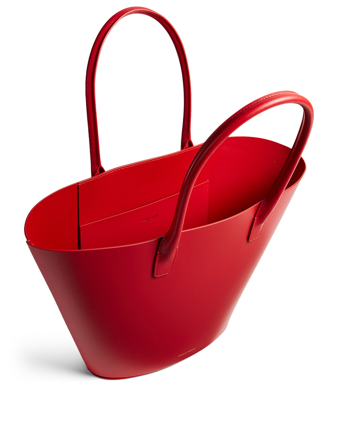 MANSUR GAVRIEL Leather Triangle Tote Bag Women's Red