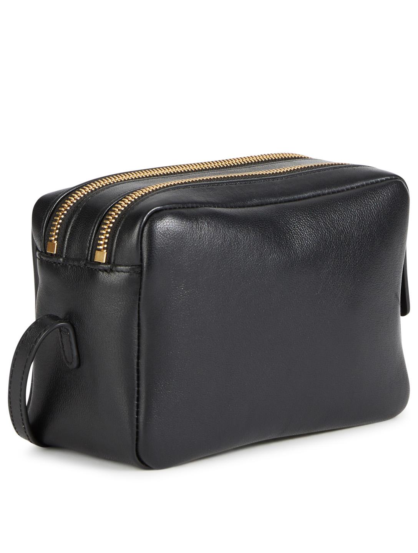 24857c14bd42 ... MANSUR GAVRIEL Double Zip Leather Crossbody Bag Womens Black ...