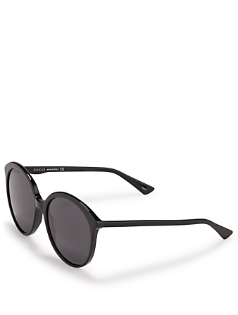 GUCCI Round Sunglasses Women's Black