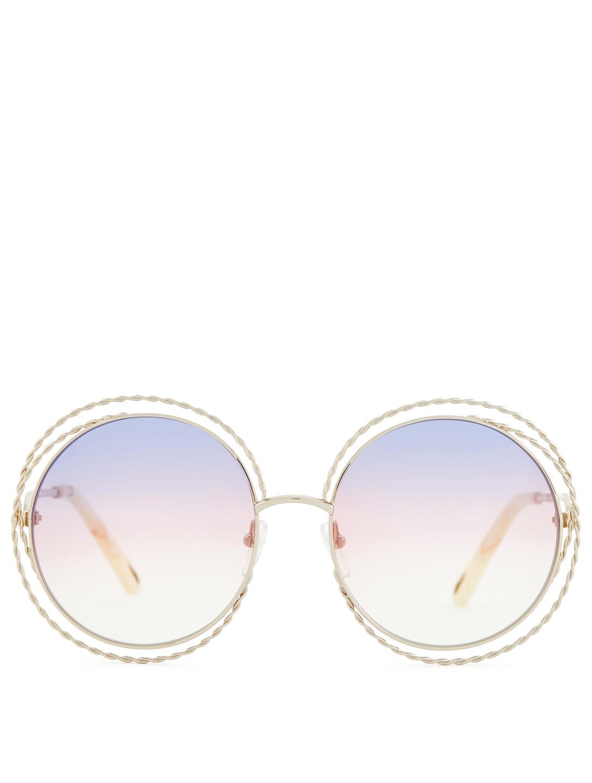 4b6b11e0e01c CHLOÉ Carlina Torsade Round Sunglasses