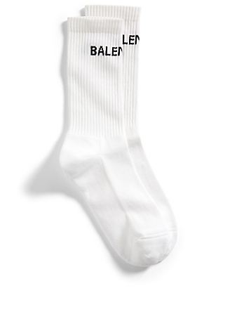 BALENCIAGA Logo Socks Men's White