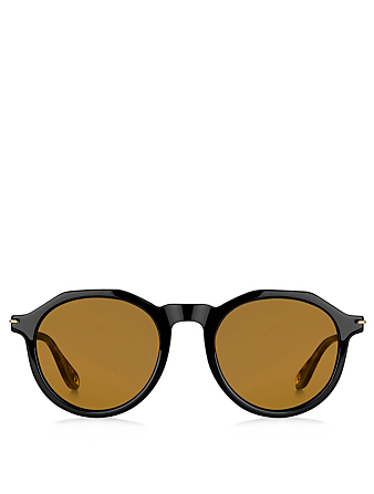 GIVENCHY Round Sunglasses Men's Black