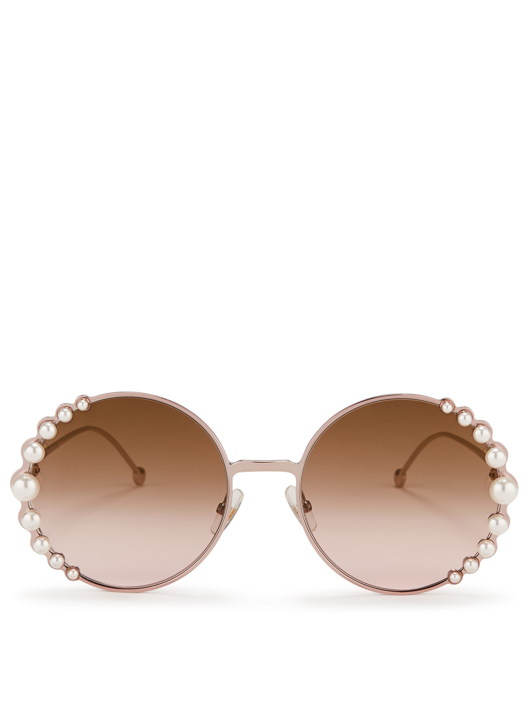 9c86ca1203a FENDI Ribbons And Pearls Round Sunglasses Women s ...