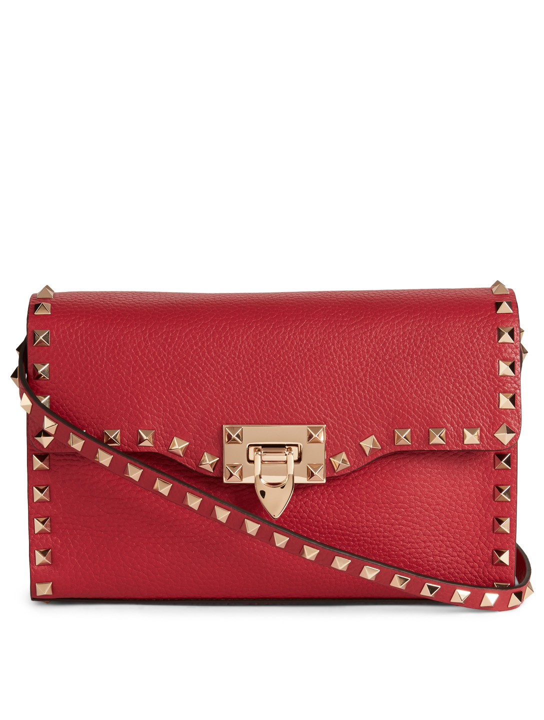 VALENTINO GARAVANI Medium Rockstud Leather Bag Women's Red