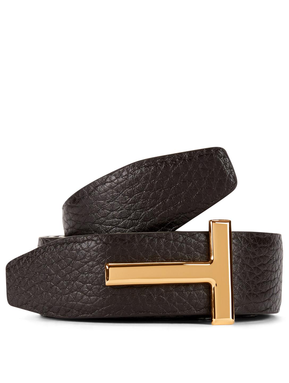 fb5519937 TOM FORD Leather T-Icon Belt | Holt Renfrew