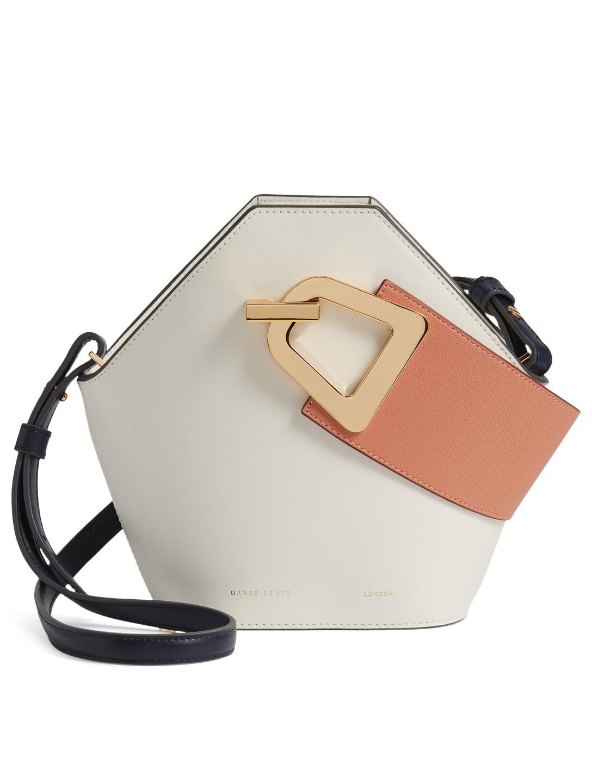 71dcebda8cdb DANSE LENTE Mini Johnny Leather Hexagonal Bucket Bag Women s White ...