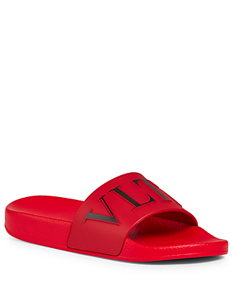 VALENTINO VLTN PVC Slides Women's Red
