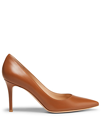 GIANVITO ROSSI Gianvito 85 Leather Pumps Womens Brown