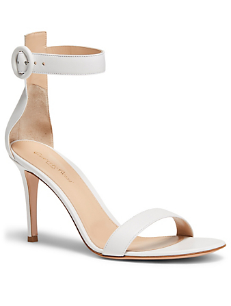 GIANVITO ROSSI Portofino 85 Leather Heeled Sandals Women's White