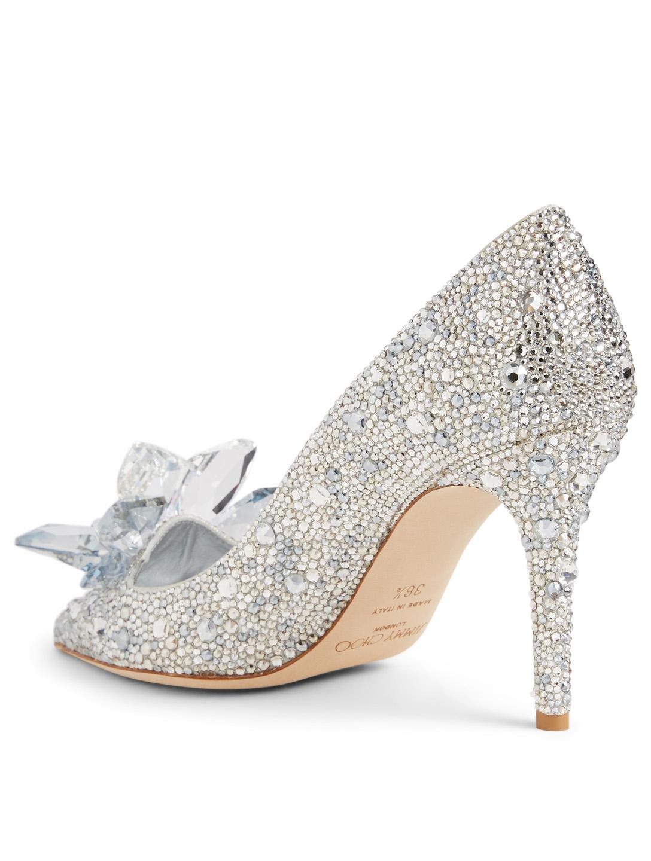 845d7e6d193 ... JIMMY CHOO Cinderella Edit Alia Crystal Pumps Women s Silver ...