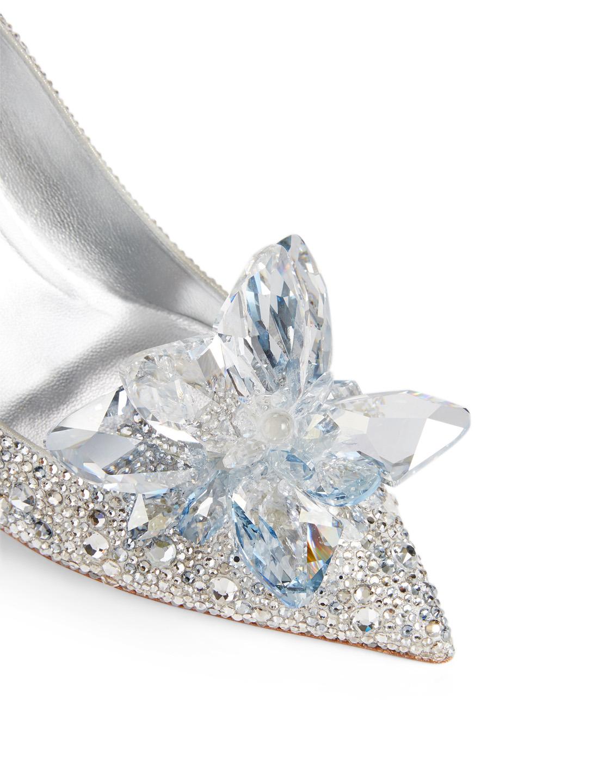 2e7313e0cdd ... JIMMY CHOO Cinderella Edit Alia Crystal Pumps Women s Silver
