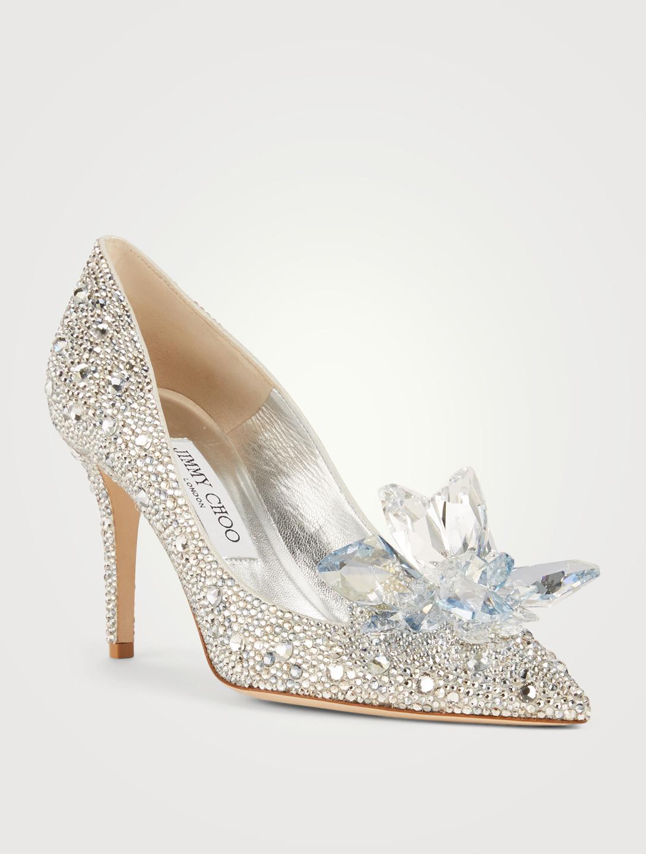 645408afbe6 ... JIMMY CHOO Cinderella Edit Alia Crystal Pumps Womens Silver ...