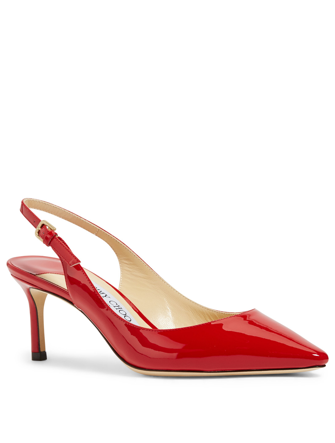 4a5eafc14362 ... JIMMY CHOO Erin 60 Patent Leather Slingback Pumps Womens Red ...