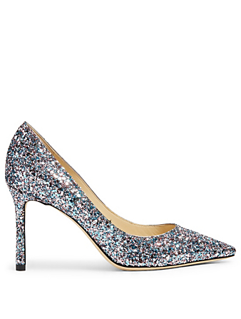 JIMMY CHOO Romy 85 Glitter Pumps Women's Multi