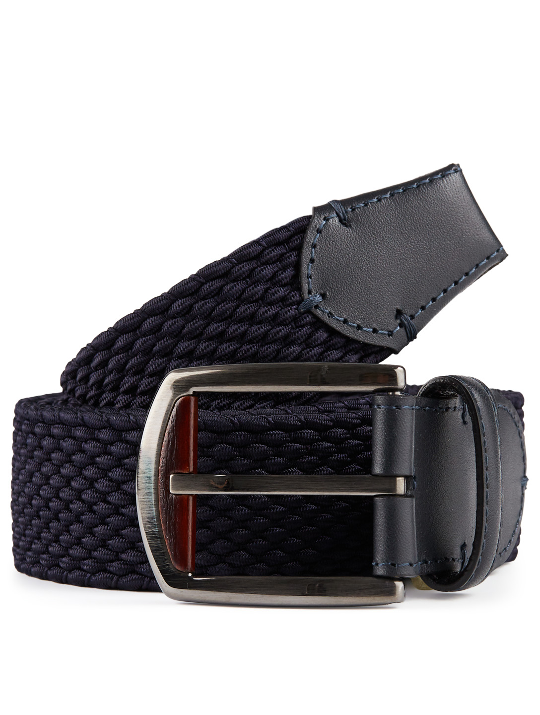ERMENEGILDO ZEGNA Woven Belt Men's Blue