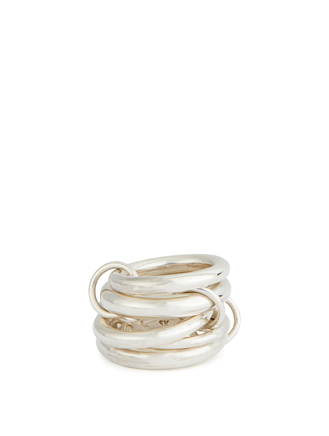 SPINELLI KILCOLLIN Aquarius Sterling Silver Stacked Ring Womens Silver