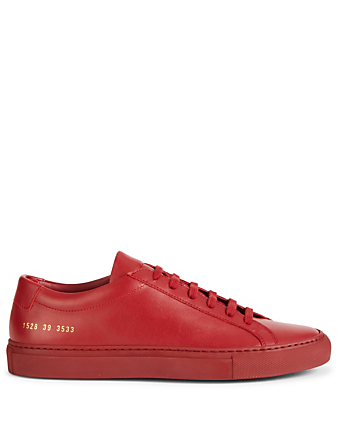 COMMON PROJECTS Original Achilles Leather Sneakers Men's Red