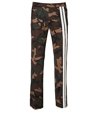 VALENTINO Camo Pants With Stripe Men's Green