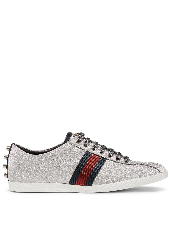 73e327c5fbd4a GUCCI Bambi Glitter Web Sneakers