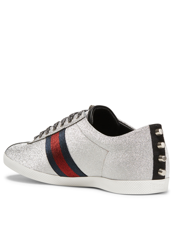3ef885278a5 ... GUCCI Bambi Glitter Web Sneakers Men s ...
