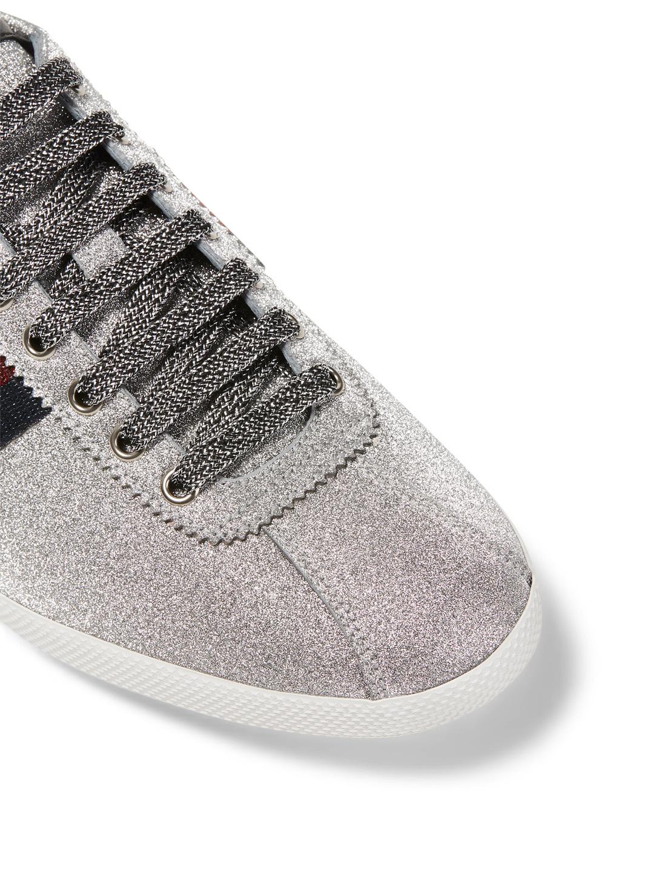 60a85bd1cd43d ... GUCCI Bambi Glitter Web Sneakers Men s Grey