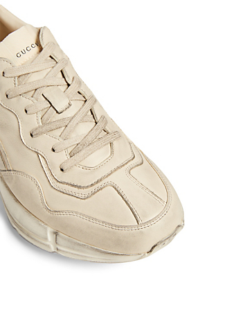 GUCCI Rhyton Leather Sneakers Men's White