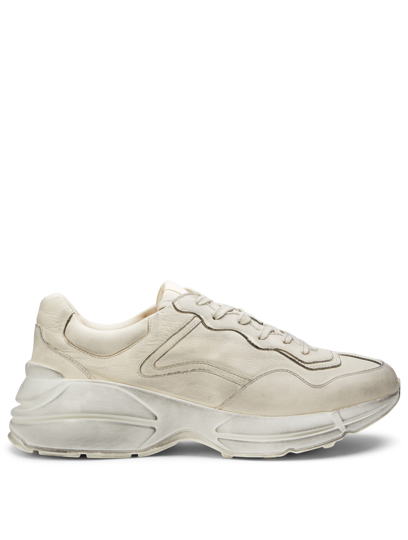 790e9ce5918 GUCCI Rhyton Leather Sneakers Men s White ...
