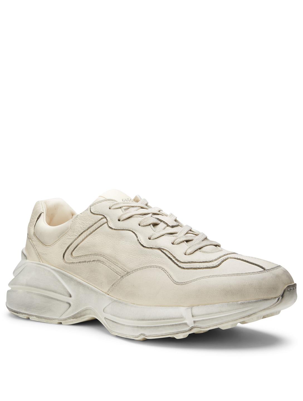 51588e2500c ... GUCCI Rhyton Leather Sneakers Men s White ...