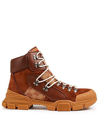 GUCCI Flashtrek GG High-Top Sneakers Men's Brown