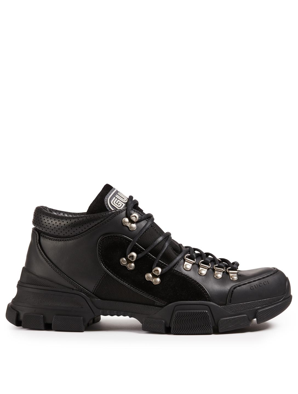 GUCCI Flashtrek Sneakers Men s Black ... e914bafd113