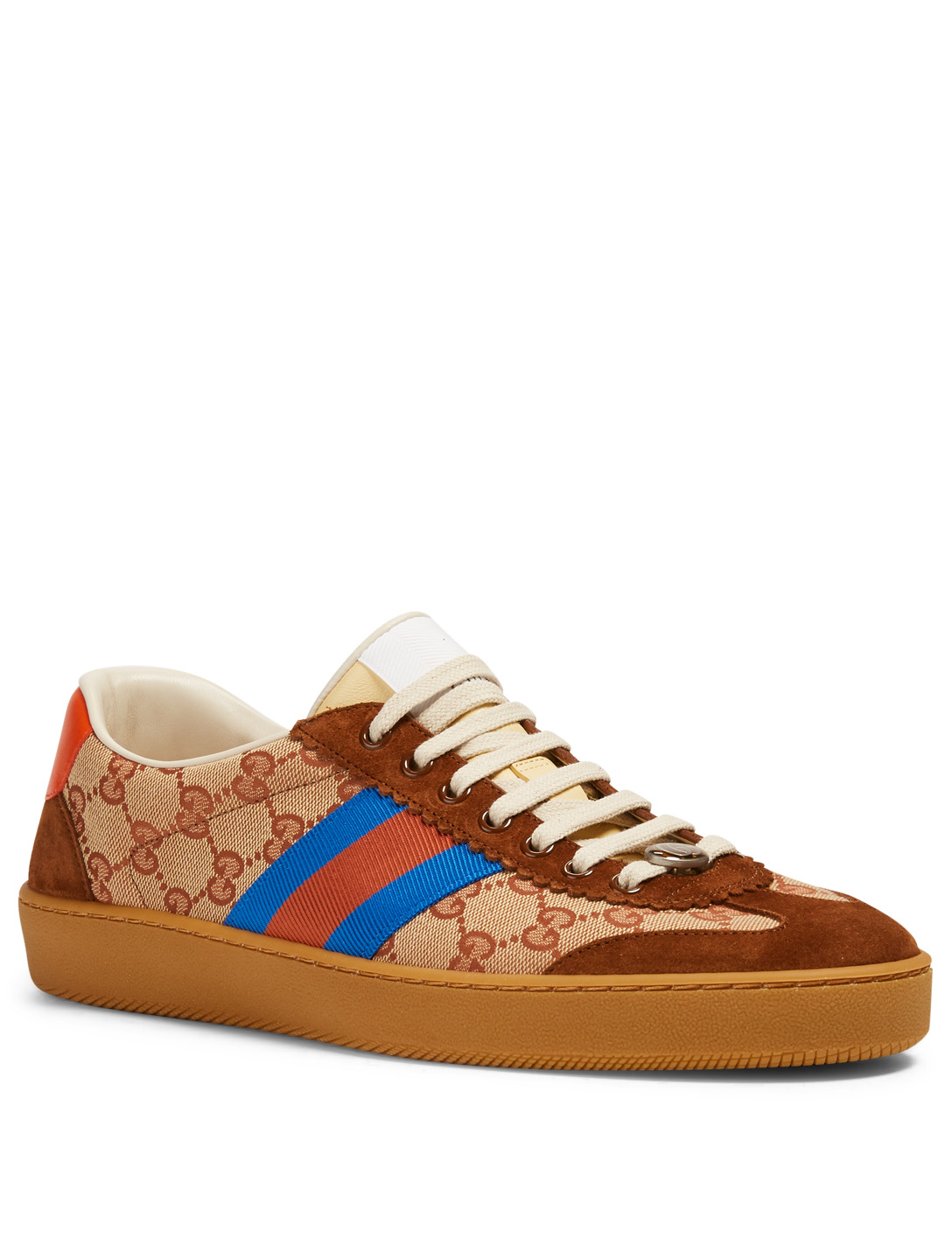0544b844d44256 ... GUCCI G74 Original GG Canvas Sneakers With Web Men s Neutral ...