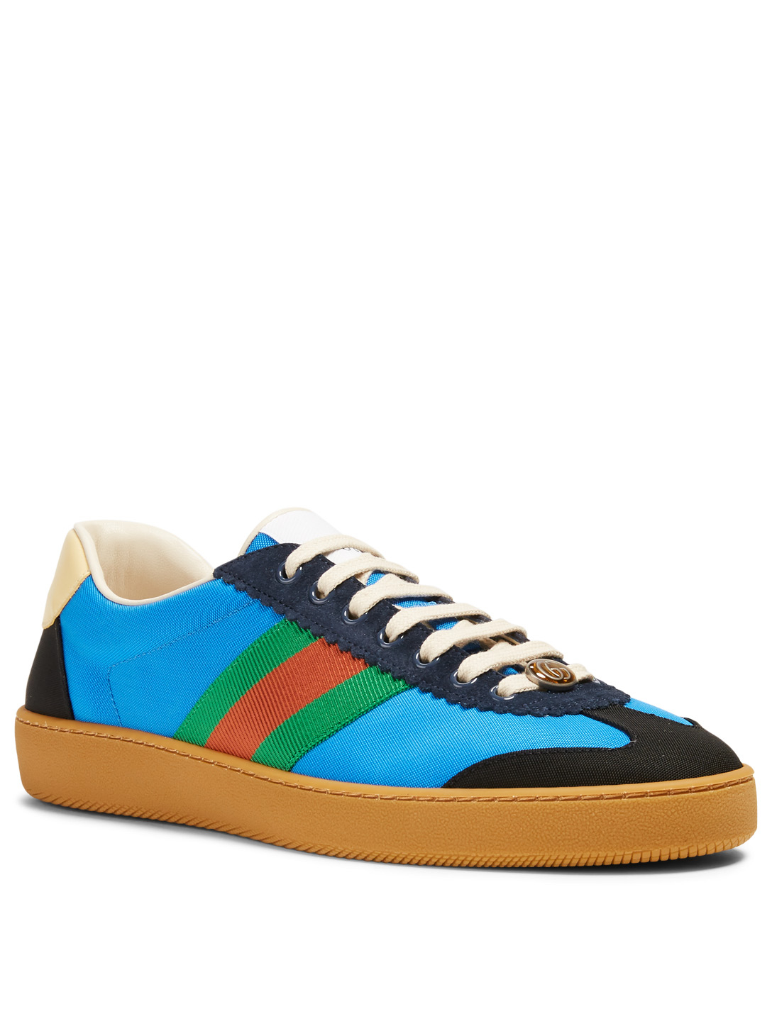 0d27b156299a ... GUCCI G74 Nylon Sneakers With Web Men s ...