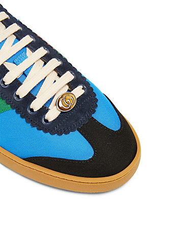 GUCCI G74 Nylon Sneakers With Web Men's Blue