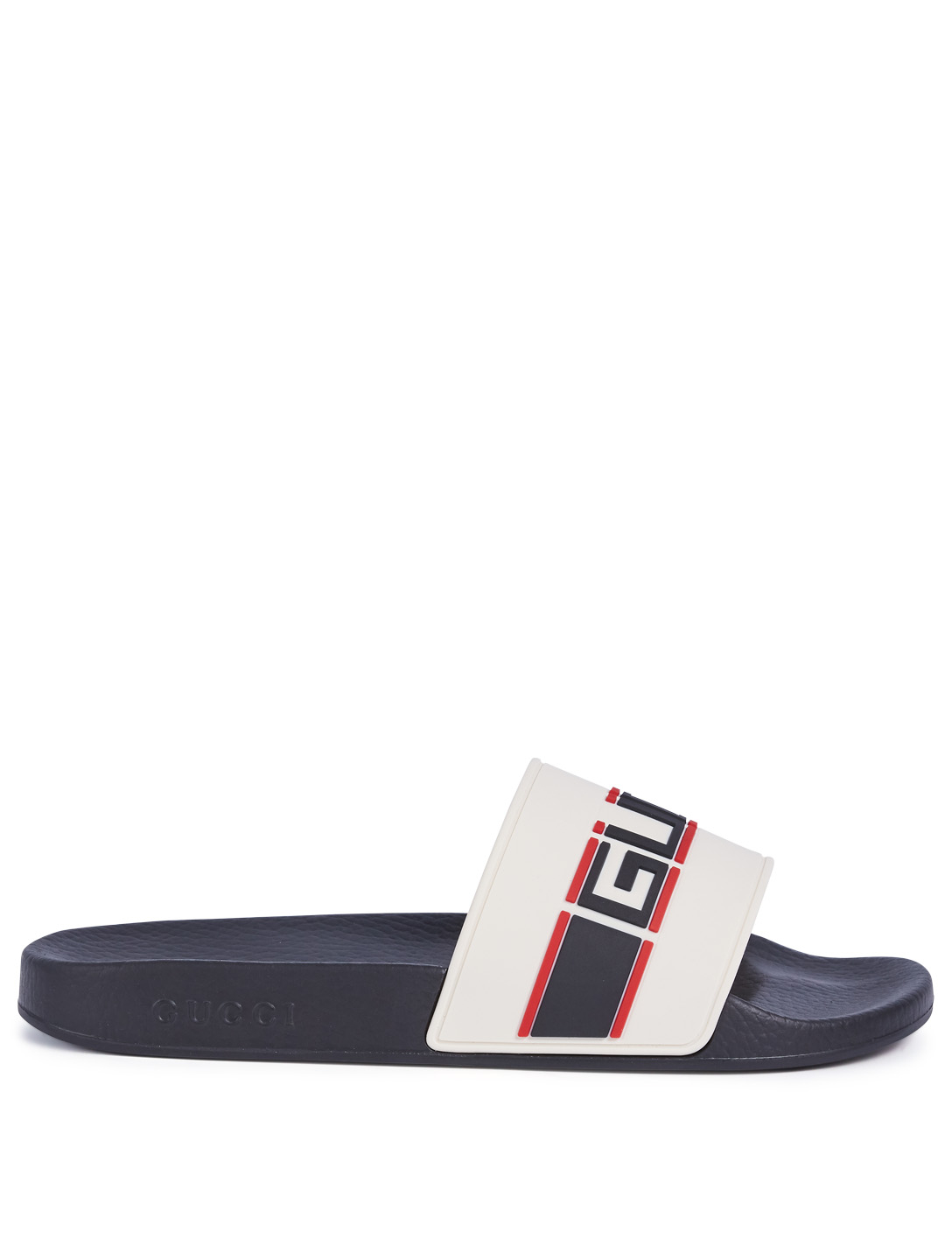49b2625bad960 GUCCI Pursuit Pool Slides With Logo