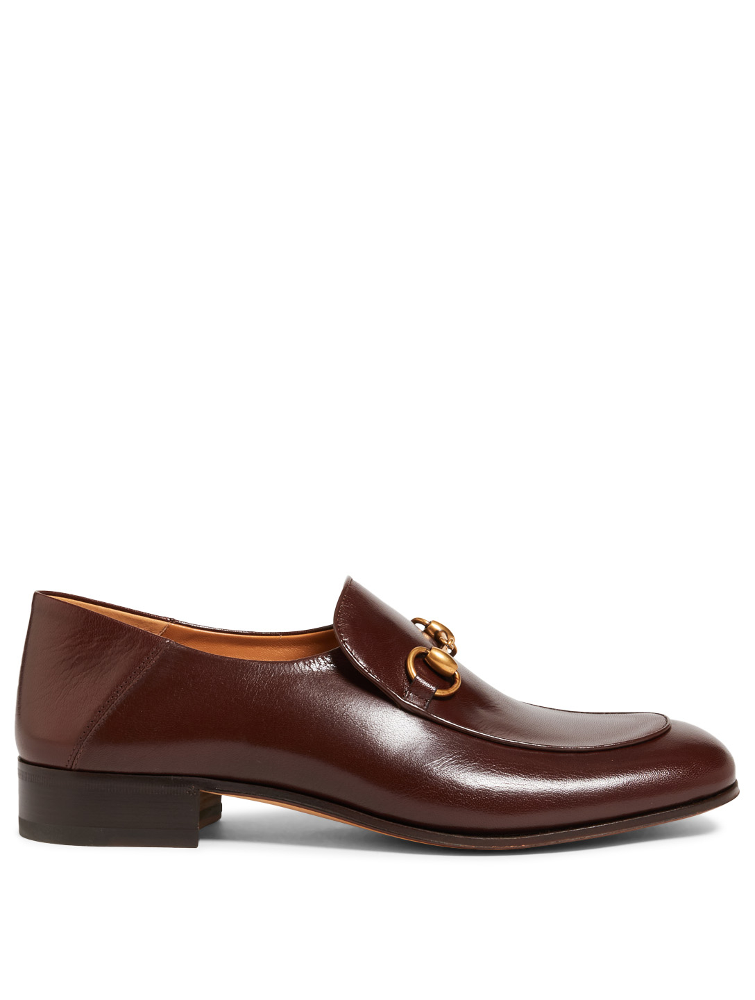 GUCCI Mister Leather Loafers Men's Brown