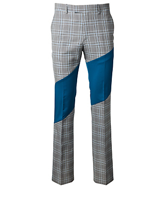 CALVIN KLEIN Wool Colourblock Pants Men's Multi