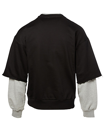 GOSHA Cotton Layered Sweatshirt Men's Black
