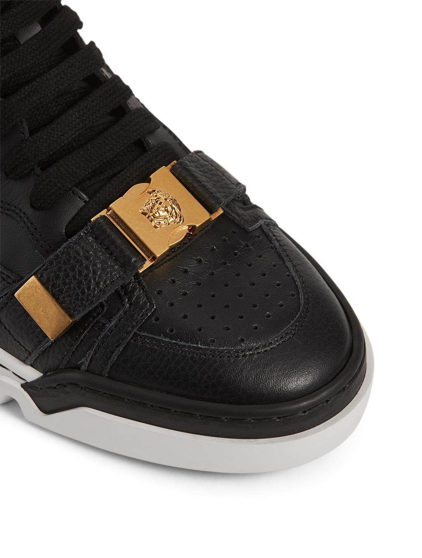 bc11e615490 ... VERSACE Leather Platform Sneakers Men s Black