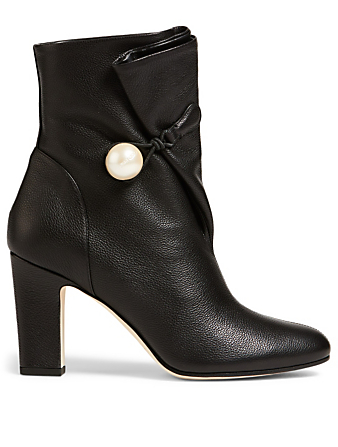 JIMMY CHOO Bethanie 85 Leather Boots Womens Black