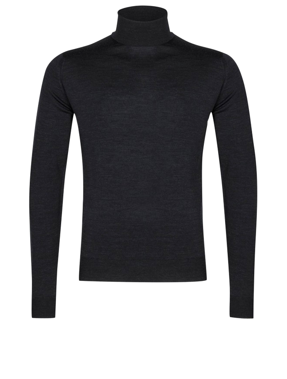 JOHN SMEDLEY Cherwell Wool Turtleneck Sweater Men's Black