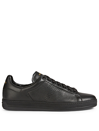 TOM FORD Warwick Grained Leather Sneakers Designers Black