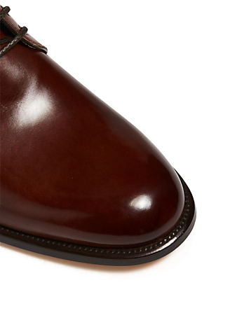 BRIONI Leather Lace-Up Boots Men's Brown